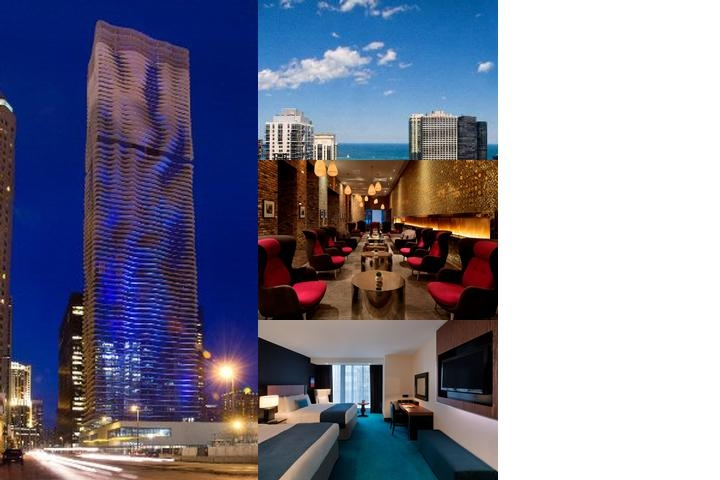 Radisson Blu Aqua Hotel Chicago photo collage
