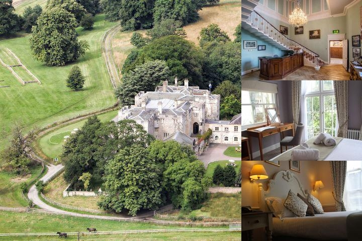 Hazlewood Castle photo collage