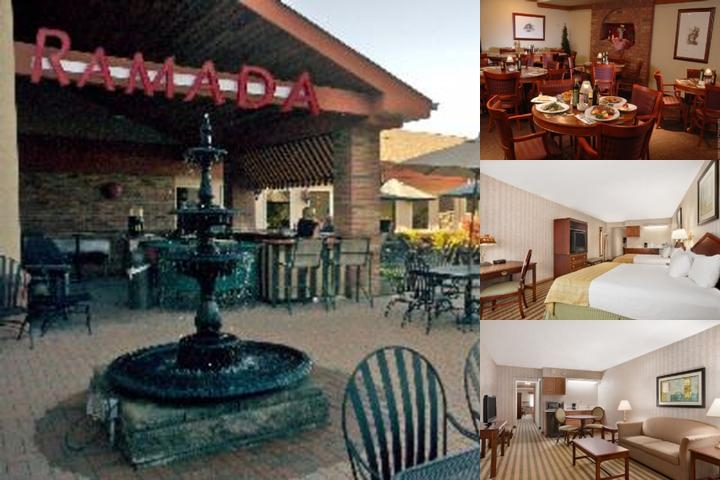 Ramada Saginaw Hotel & Suites Main Entrance And Beautiful Outdoor Courtyard