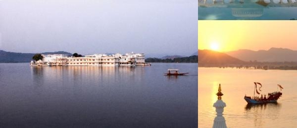 Taj Lake Palace photo collage
