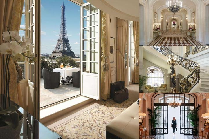 Shangri La Hotel Paris photo collage