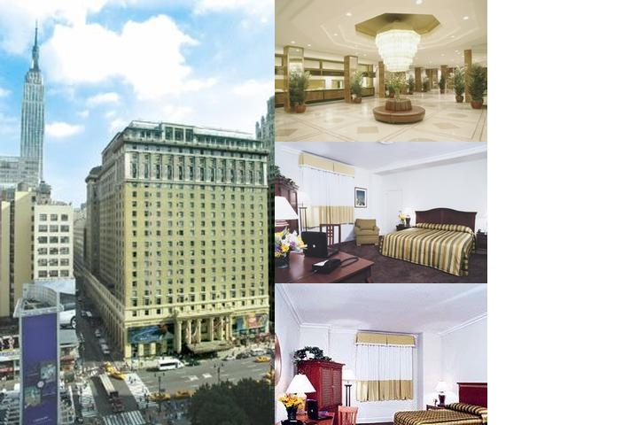 New York's Hotel Pennsylvania photo collage