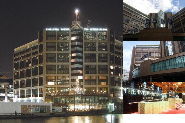 The International Hotel Canary Wharf London photo collage