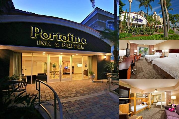 Portofino Inn & Suites Anaheim Hotel photo collage