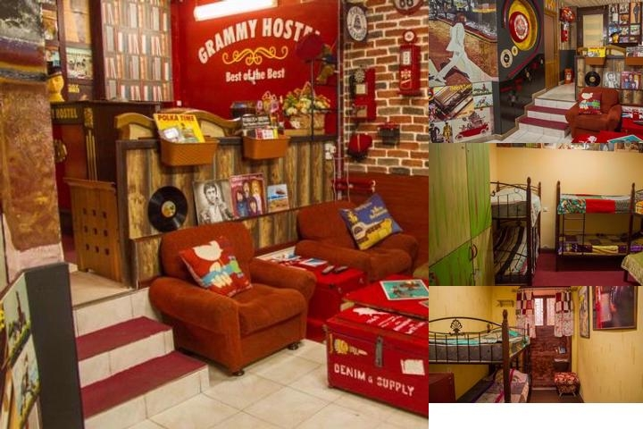 Grammy Hostel photo collage