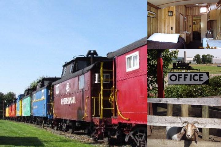 The Red Caboose Motel photo collage
