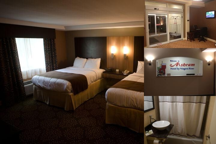 Aashram Hotel by Niagara River photo collage
