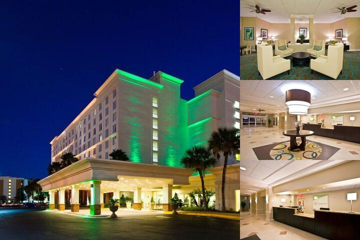Holiday Inn & Suites Across From Universal Orlando Night Time Exterior View