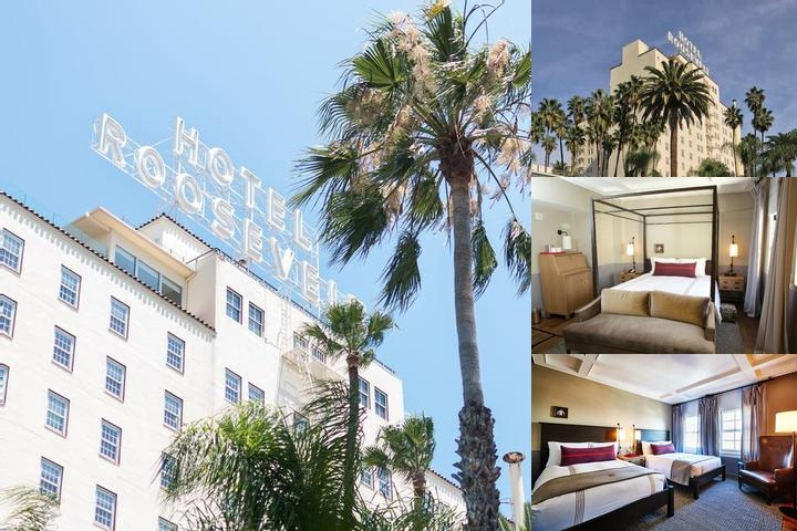 Hollywood Roosevelt Hotel photo collage