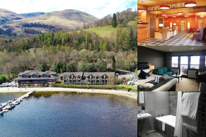 Lodge on Loch Lomond photo collage