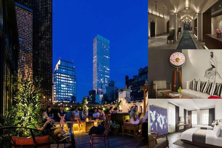 Refinery Hotel New York photo collage