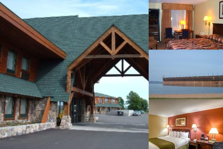 Ashland Lake Superior Lodge photo collage
