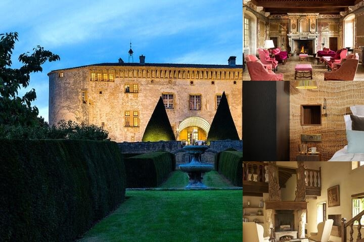 Chateau De Bagnols photo collage