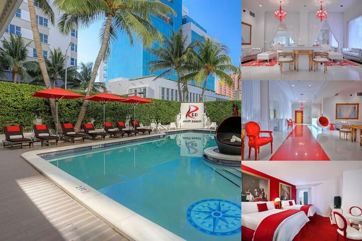 Red South Beach Hotel photo collage