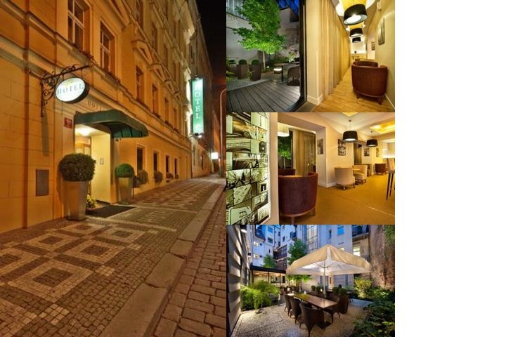Three Crowns Hotel Prague photo collage