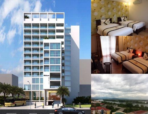 Midtown Hotel Hue photo collage