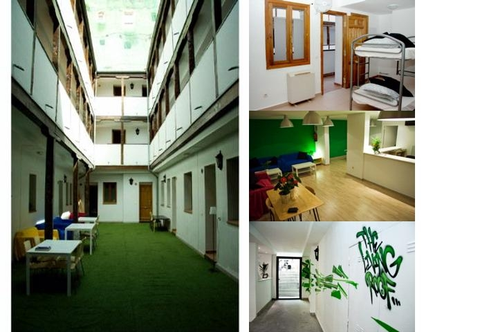 The Living Roof Hostel Madrid photo collage