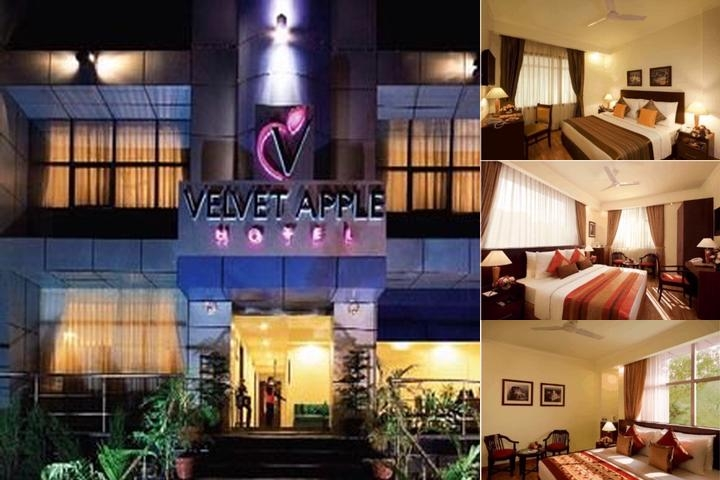 Velvet Apple Hotel New Delhi photo collage