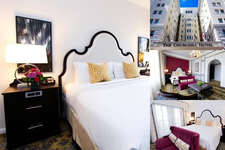 The Churchill Hotel photo collage