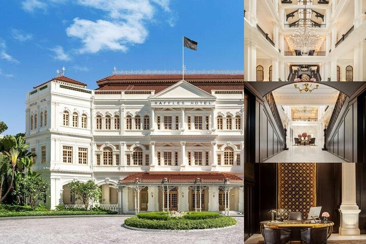 Raffles Hotel Singapore photo collage
