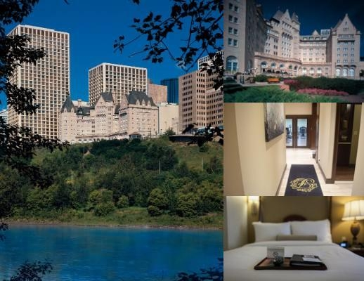 The Fairmont Hotel Macdonald photo collage