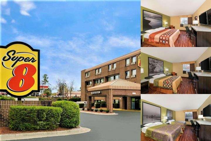 Super 8 Hotel Raleigh North East photo collage