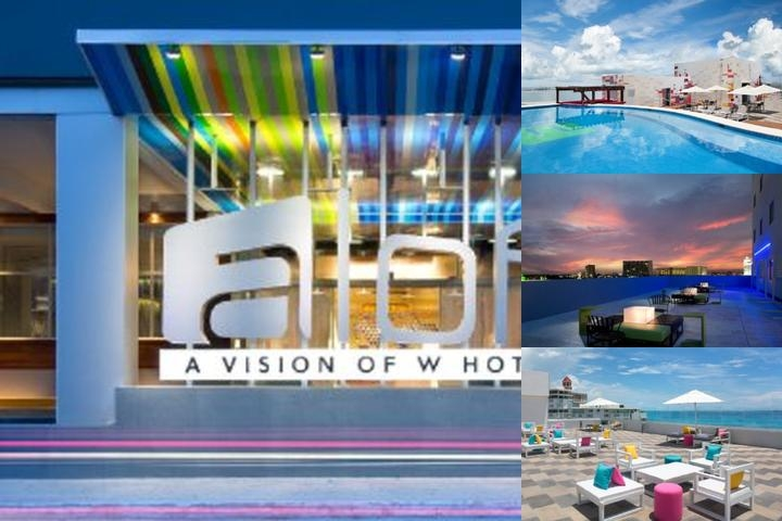 Aloft Cancun photo collage
