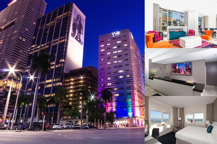 Yve Hotel Miami photo collage