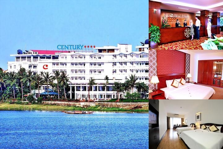 Century Riverside Hotel Hue photo collage
