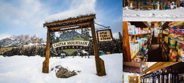 Castle Mountain Chalets photo collage
