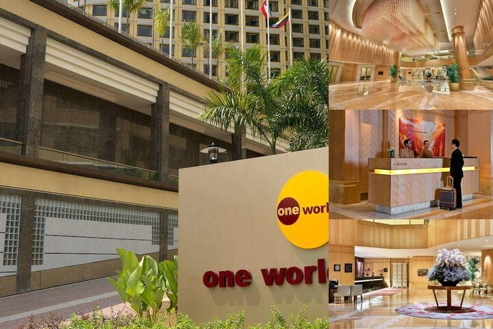 One World Hotel photo collage