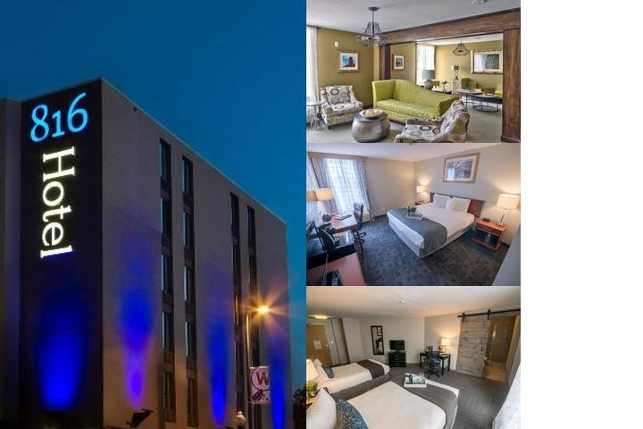 816 Hotel photo collage