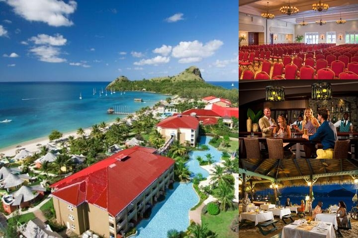 Sandals Grande St. Lucian photo collage