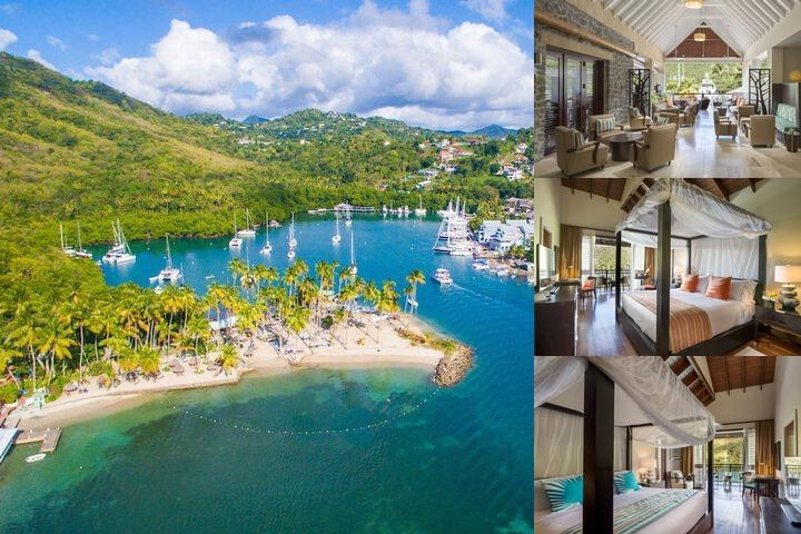 Capella Marigot Bay St. Lucia photo collage