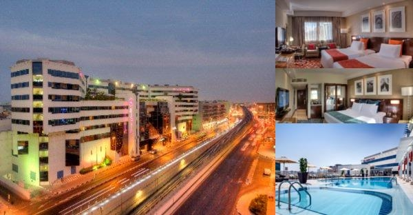 Crowne Plaza Dubai Deira photo collage