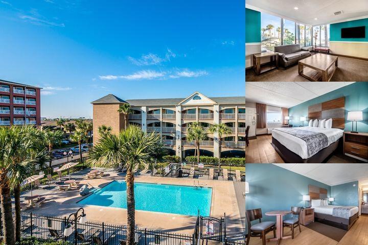 Great Red Roof Inn Galveston Beachfront / Convention Cen Photo Collage