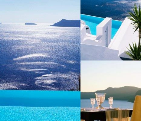 Pelagos Hotel Oia photo collage