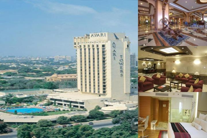 Avari Towers Karachi photo collage