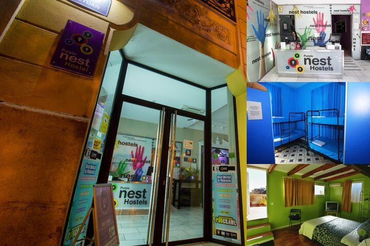 Purple Nest Hostel photo collage
