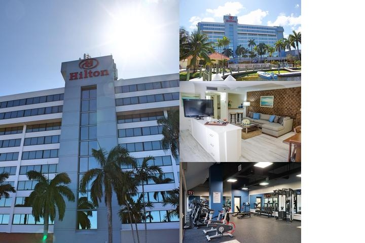 Hilton Palm Beach Airport photo collage