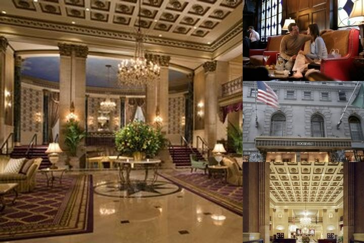 Roosevelt Hotel New York photo collage