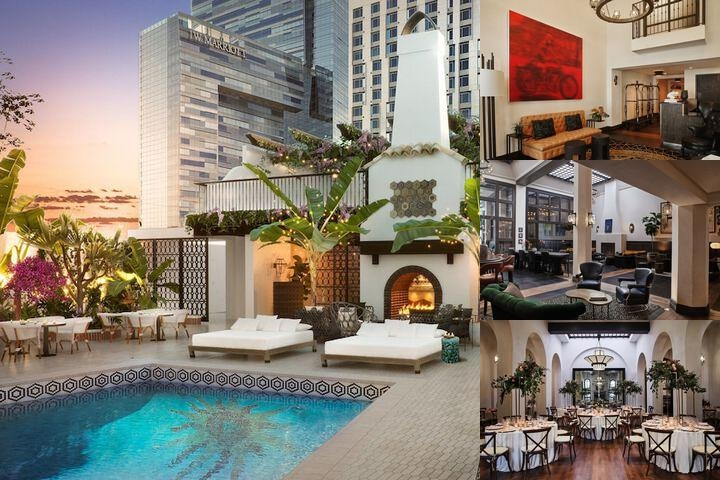 Hotel Figueroa Downtown Los Angeles photo collage