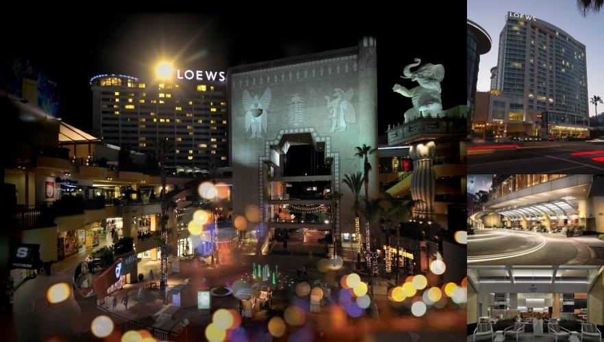 Loews Hollywood Hotel photo collage