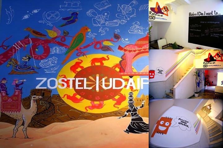 Zostel Udaipur photo collage