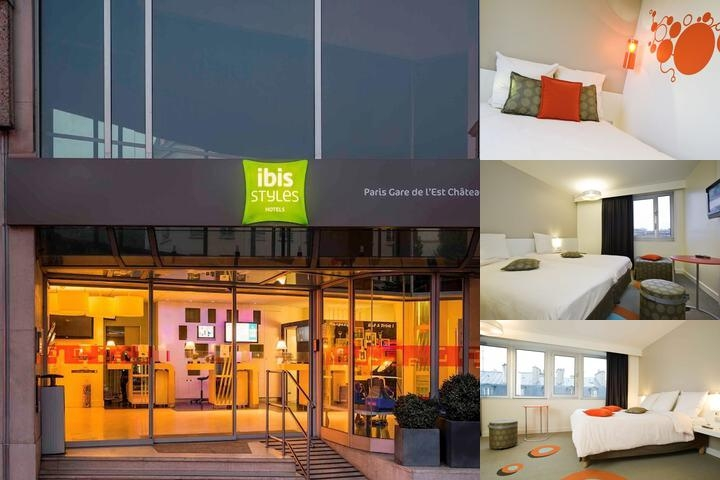 Ibis Styles Paris Gare De L'est Château Landon photo collage