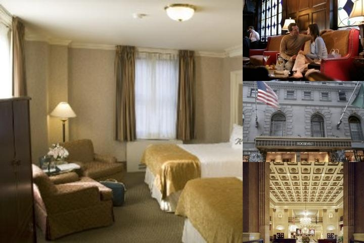 The Roosevelt Hotel New York City photo collage