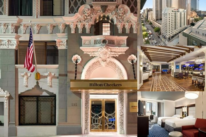 Hilton Checkers Los Angeles photo collage