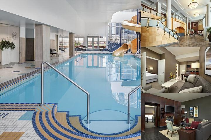 The Sheraton Suites Calgary Eau Claire photo collage