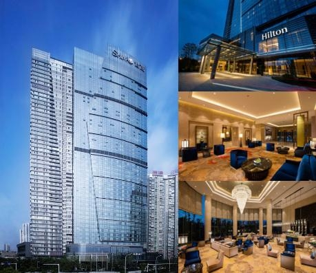Hilton Wuhan Riverside photo collage