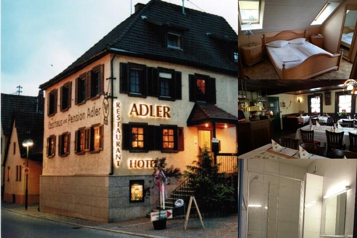 Adler Gaststube Hotel Biergarten photo collage